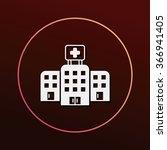 hospital building icon | Shutterstock .eps vector #366941405