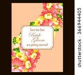 romantic invitation. wedding ... | Shutterstock .eps vector #366944405