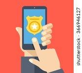 Call Police App On Smartphone...