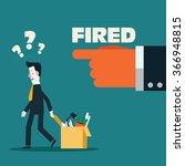 dismissed frustrated business... | Shutterstock .eps vector #366948815