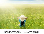 back view of happy woman... | Shutterstock . vector #366955031