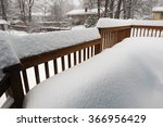 Snow Accumulated On The Deck...