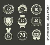 set of anniversary vector signs ...   Shutterstock .eps vector #366959354