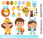 vector set of characters and... | Shutterstock .eps vector #366959705