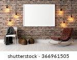 modern bright interior . 3d... | Shutterstock . vector #366961505