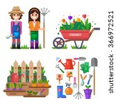 gardening and everything linked ... | Shutterstock .eps vector #366972521