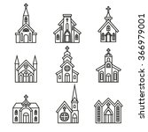 church building  christian... | Shutterstock .eps vector #366979001