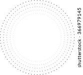 Halftone Round Dots . Circle...