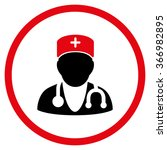 physician vector icon. style is ... | Shutterstock .eps vector #366982895