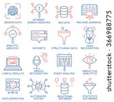 vector set of 16 icons related... | Shutterstock .eps vector #366988775