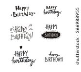 happy birthday vector card | Shutterstock .eps vector #366988955