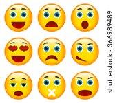 set of emoticons. set of emoji. ... | Shutterstock .eps vector #366989489