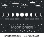 the phases of the moon. the... | Shutterstock .eps vector #367005635