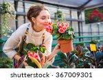 Attractive Cute Woman Gardener...