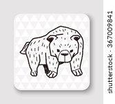 bear doodle | Shutterstock . vector #367009841