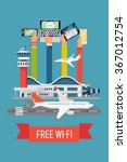 free wifi in airport terminal... | Shutterstock .eps vector #367012754
