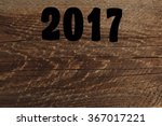 sigh symbol from number 2017 in ... | Shutterstock . vector #367017221