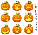 halloween icon set | Shutterstock .eps vector #36701872