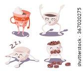 adventures of coffee cup. part... | Shutterstock .eps vector #367020275