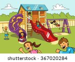 kids on the playground. vector... | Shutterstock .eps vector #367020284