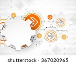 abstract technology background. ... | Shutterstock .eps vector #367020965
