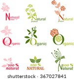 natural product labels | Shutterstock .eps vector #367027841