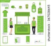 vector menu  package  t shirt ... | Shutterstock .eps vector #367028645