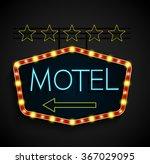 shining retro light banner... | Shutterstock .eps vector #367029095