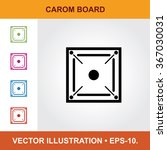 vector icon of carom board with ... | Shutterstock .eps vector #367030031