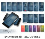 different ui  ux and gui layout ... | Shutterstock .eps vector #367034561