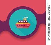 transportation ferry flat icon... | Shutterstock .eps vector #367036487