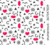 seamless pattern with abstract... | Shutterstock .eps vector #367047839