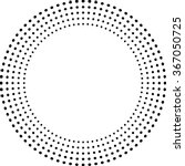Concentric Circles . Dots In...