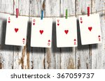 "poker ""love"" words hanging on...   Shutterstock . vector #367059737"