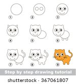step by step drawing tutorial....   Shutterstock .eps vector #367061807