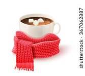 cozy winter composition with... | Shutterstock .eps vector #367062887