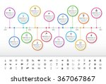 modern rainbow timeline with... | Shutterstock .eps vector #367067867