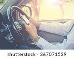 hand using phone sending a text ... | Shutterstock . vector #367071539