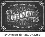 vintage chalkboard background   ... | Shutterstock .eps vector #367072259