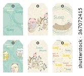vector sleeping animals | Shutterstock .eps vector #367072415
