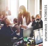 business people meeting... | Shutterstock . vector #367080131