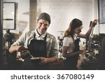 barista coffee shop waiter... | Shutterstock . vector #367080149