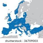 members of nato in europe   Shutterstock .eps vector #36709003