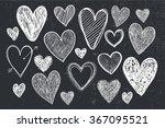 vector set of hand drawn doodle ... | Shutterstock .eps vector #367095521