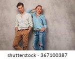 handsome man pose in studio...   Shutterstock . vector #367100387