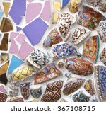 Multi Colored Pieces Of Glass...