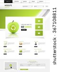 eco website template  vector...