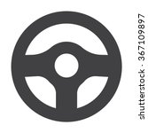 steering wheel icon.  | Shutterstock .eps vector #367109897
