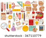 collection of lovely baby... | Shutterstock .eps vector #367110779