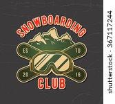 snowboarding emblem. logotype... | Shutterstock .eps vector #367117244